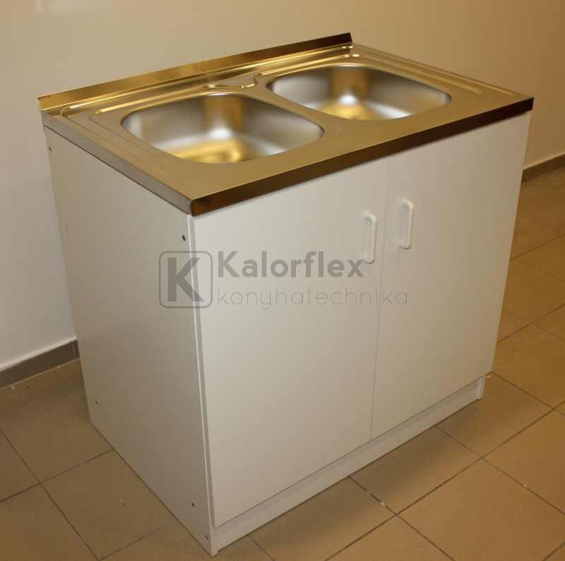 800x500-as komplett 2 medencés nyílóajtós mosogatószekrény