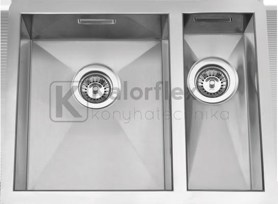 BOX LINE 65 1,5 medencés aláépíthető mosogató 340x400 és 160x400 mm