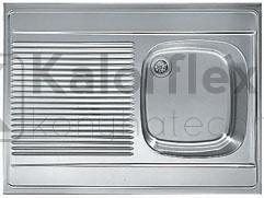 FRANKE Teletetős mosogató-Balos csepegtetővel Méret: 800x600 mm