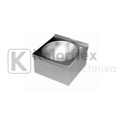 Fali kézmosó csaptelep nélkül, takaróborítással, Méret: 400x400 mm