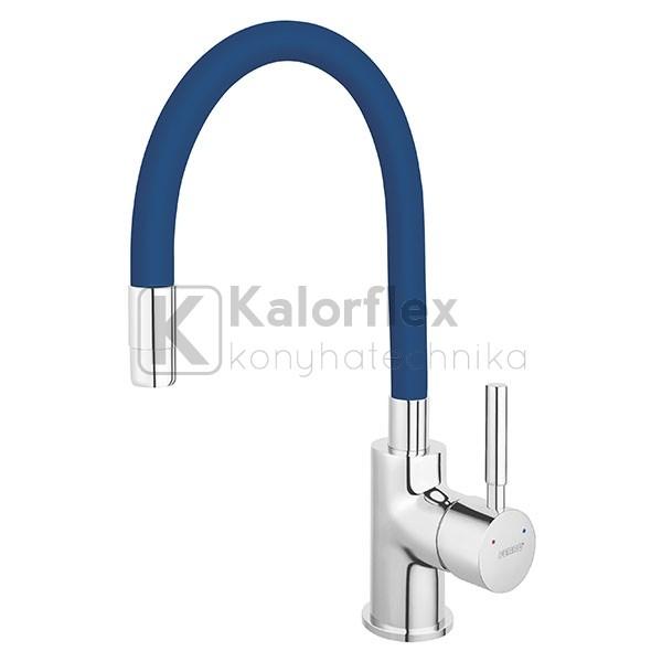 Ferro ZUMBA konyhai csaptelep, elasztikus kék kifolyóval