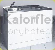Komplett minikonyha 1 medencés mosogatóval, főzőlappal