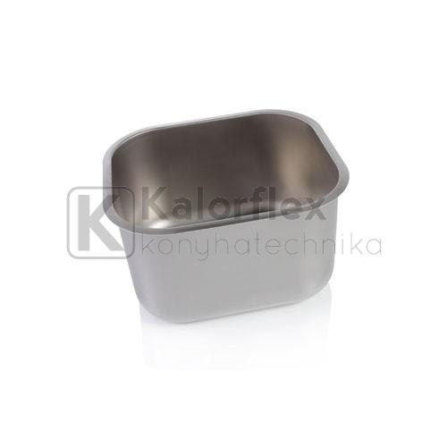 340x400x250 Rozsdamentes négyszögletes mosogatómedence, jobbos
