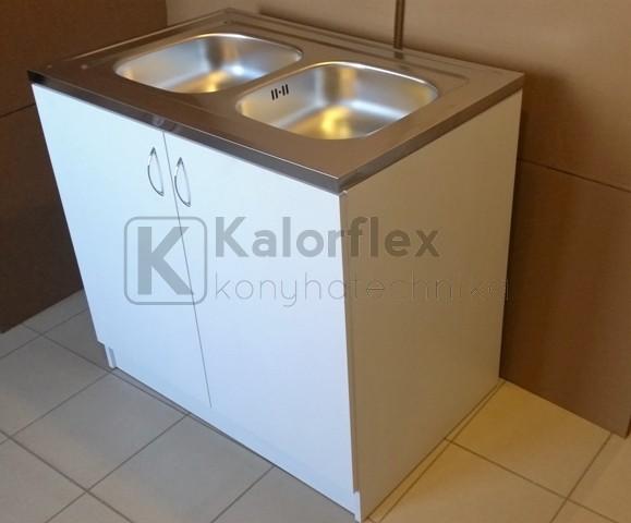 800x600-as komplett 2 medencés nyílóajtós mosogatószekrény