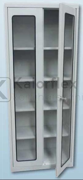 Üveges szekrény 2-ajtós