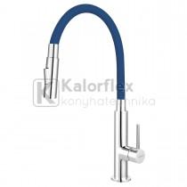 Zumba Slim 2F konyhai csaptelep flexibilis kék színű kifolyócsővel