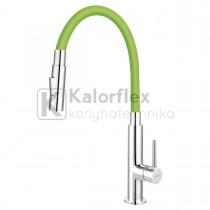 Zumba Slim 2F konyhai csaptelep flexibilis zöld színű kifolyócsővel