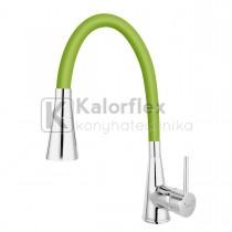 Ferro Zumba II konyhai csaptelep flexibilis zöld kifolyócsővel