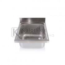 Egymedencés mosogatófedlap. Méret: 600x600 mm, medence: 400x500x250 mm.