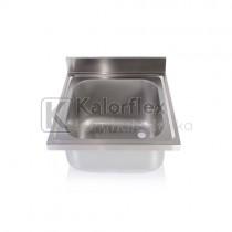 Egymedencés mosogatófedlap. Méret: 600x700 mm, medence: 500x600x300 mm.