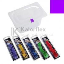 12 db lila színű színkódos jelölő polipropilén GN fedőkhöz.