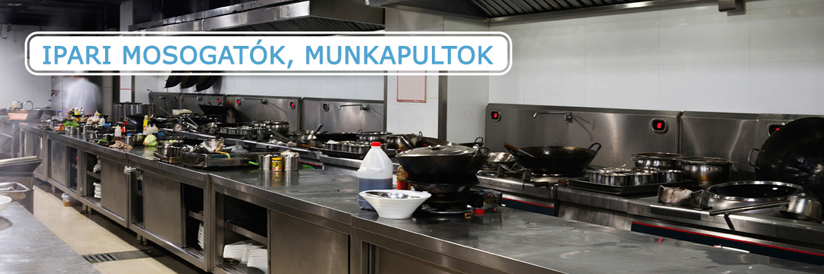 Ipari mosogatók, munkapultok