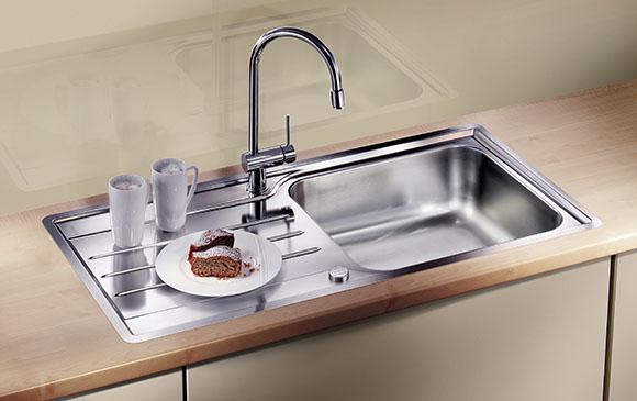 rozsdamentes háztartási mosogató medencék