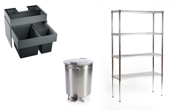 konyhai hulladék- és eszköztárolók