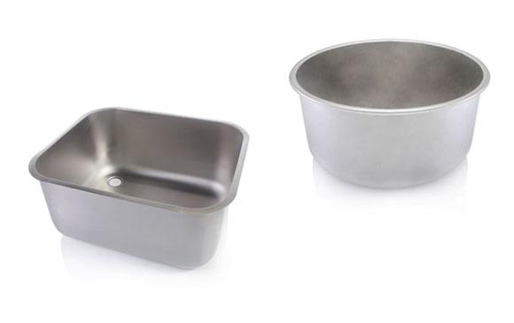 rozsdamentes vendéglátóipari mosogató medencék